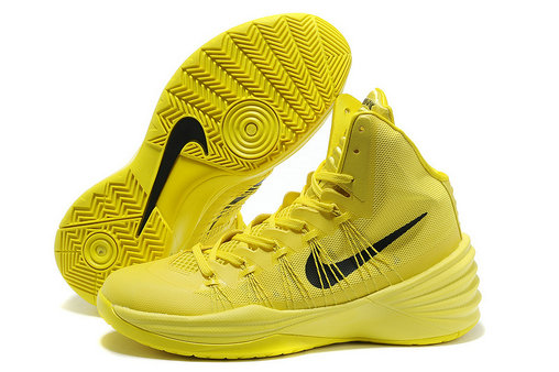 Cheap Wholesale Nike Hyperdunks Women Yellow Black