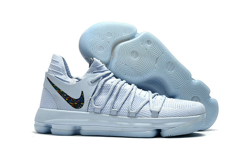 Cheap Wholesale Nike KD 10 Kids Ice Blue