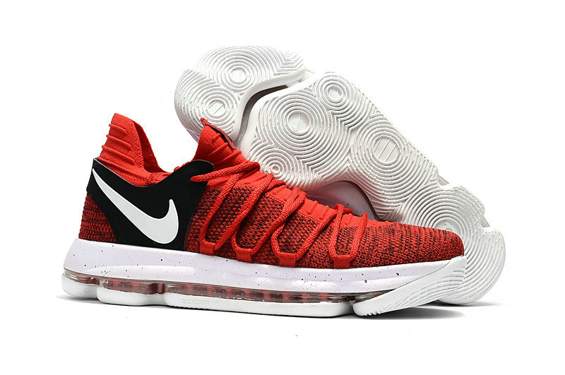 Cheap Wholesale Nike KD 10 Kids Red Black White