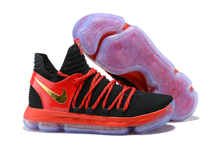 Cheap Wholesale Nike KD 10 Nike Kevin Durant 10 Nike Drops A Exclusive KD 10 In Red  Black And Gold