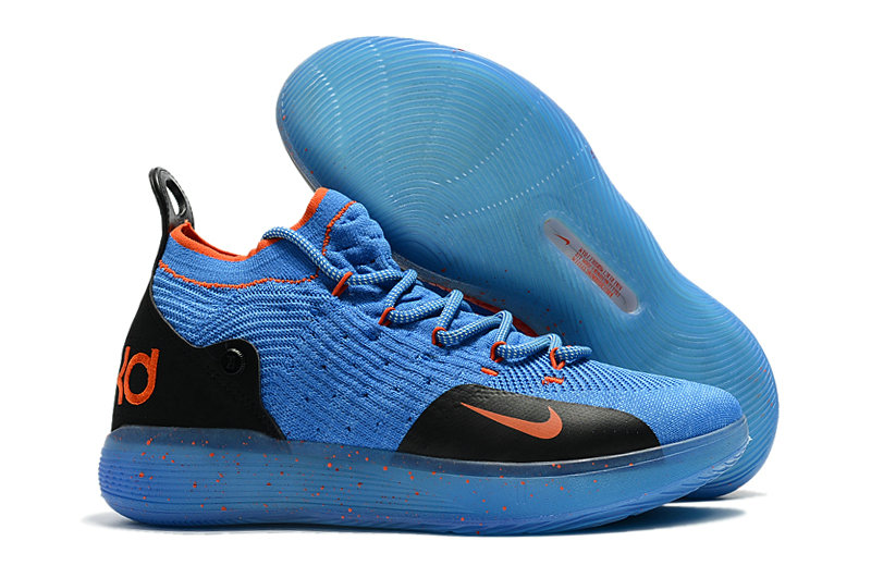 Cheap Wholesale Nike KD 11 For Womens Blue Orange Black