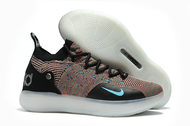 Cheap Wholesale Nike KD 11 For Womens Colorful Black White