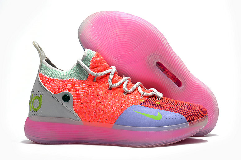 Cheap Wholesale Nike KD 11 For Womens Pink Grey Green Purple
