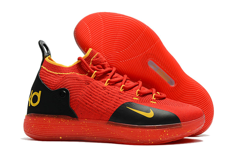 Cheap Wholesale Nike KD 11 For Womens Red Yellow Black