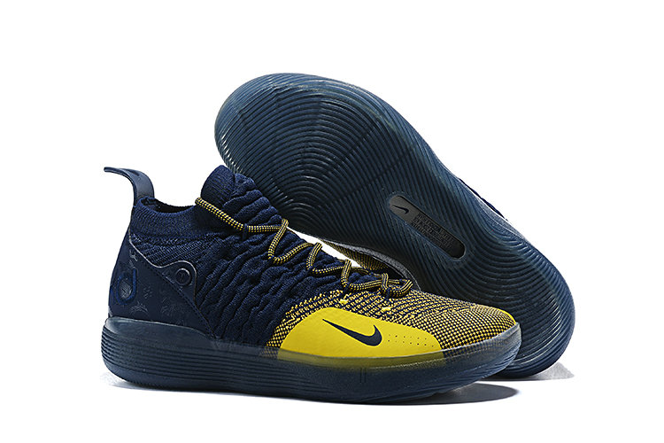 Wholesale Cheap Nike KD 11 Michigan College Navy University Gold AO2604-400