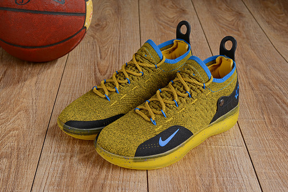 Wholesale Cheap Nike KD 11 XI Gold Black Blue