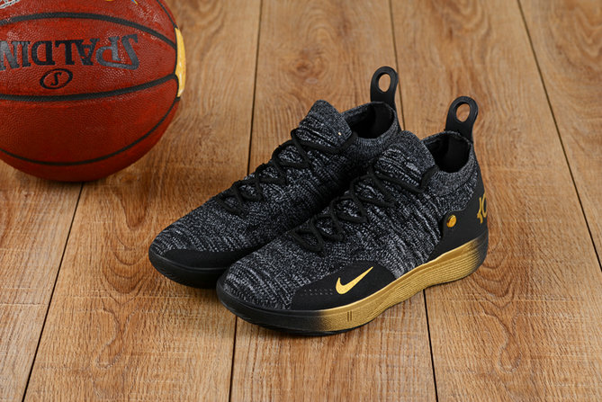 Wholesale Cheap Nike KD 11 XI Gold Grey Black