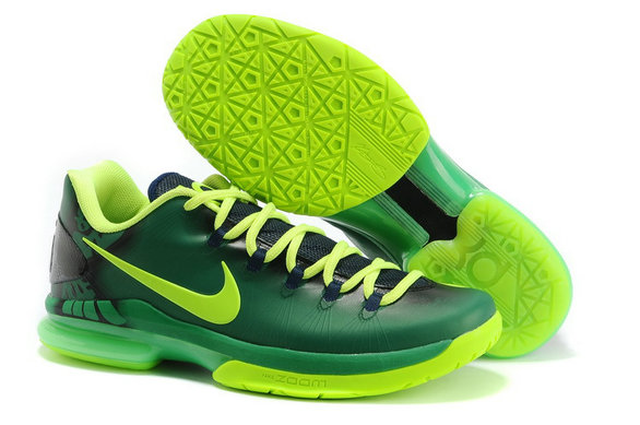 Cheap Wholesale Nike KD 5 V Elite Fluorescent Black Shoes