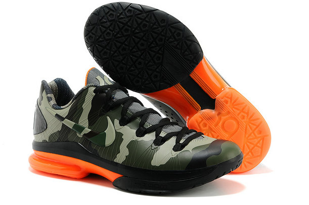 Cheap Wholesale Nike KD 5 V Elite Orange Black Green Shoes