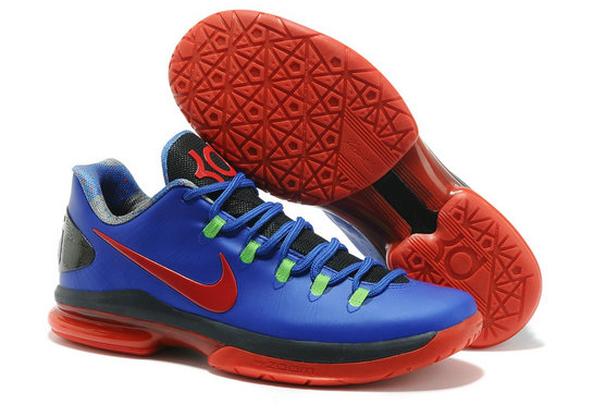 Cheap Wholesale Nike KD 5 V Elite Red Navy Blue Black Shoes