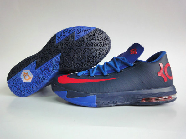 buy popular a33d4 35c09 Cheap Wholesale Nike KD 6 Shoes Black Red Blue