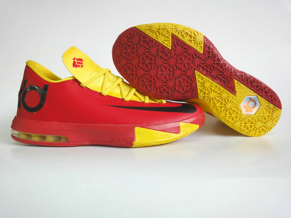 sale retailer 5af10 a7dfa Cheap Wholesale Nike KD 6 Shoes Red Yellow Black