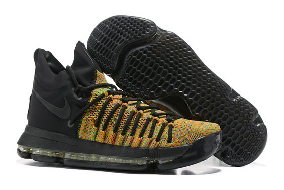Cheap Wholesale Nike KD 9 IX Playoff Elite Edition Black Yellow