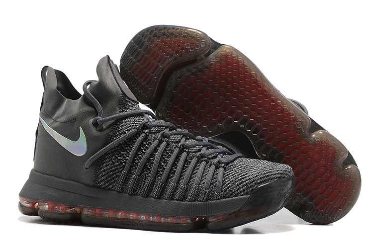Cheap Wholesale Nike KD 9 P.S Elite Deep Grey Red Basketball Shoes