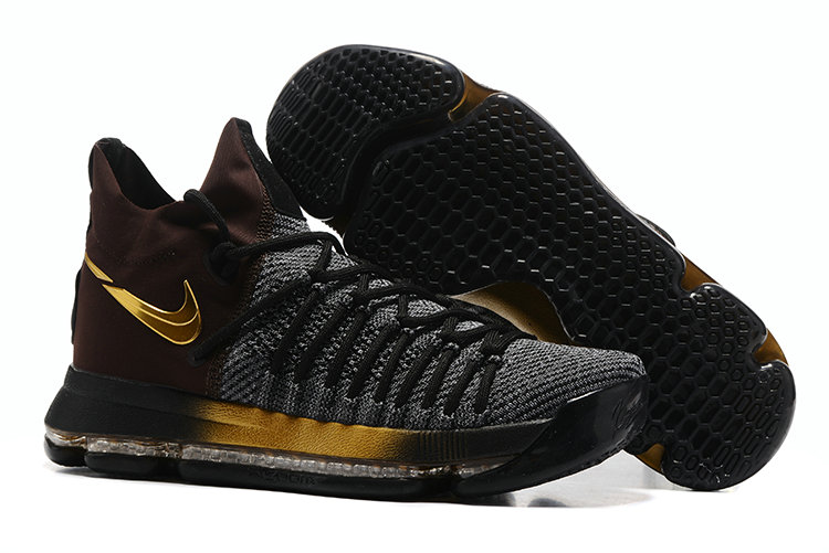 Cheap Wholesale Nike KD 9 P.S Elite Gold Brown Black Grey Basketball Shoes