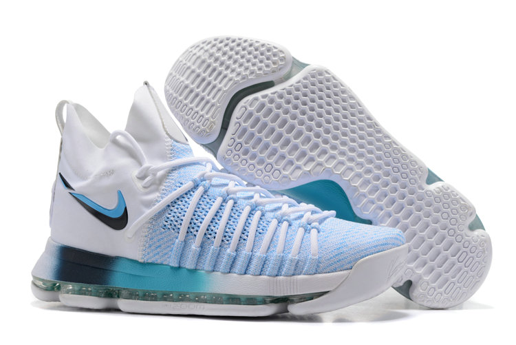 Cheap Wholesale Nike KD 9 P.S Elite Light Blue White Basketball Shoes