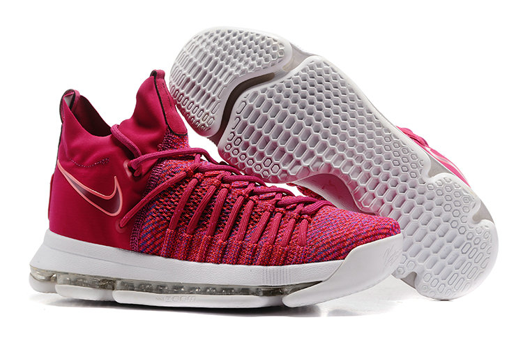 Cheap Wholesale Nike KD 9 P.S Elite Rose Red White Basketball Shoes