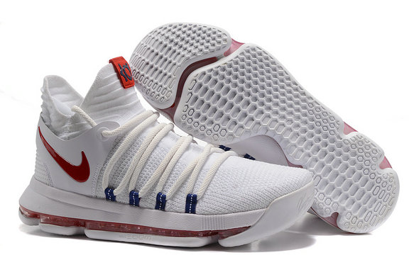 Cheap Wholesale Nike Kevin Durant 10 Red White