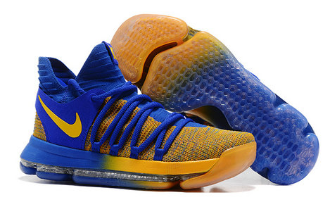 Cheap Wholesale Nike Kevin Durant 10 Royal Blue Yellow