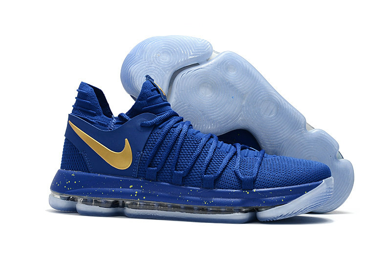 Cheap Wholesale Nike Kevin Durant 10 X Sneakers Royalblue Gold
