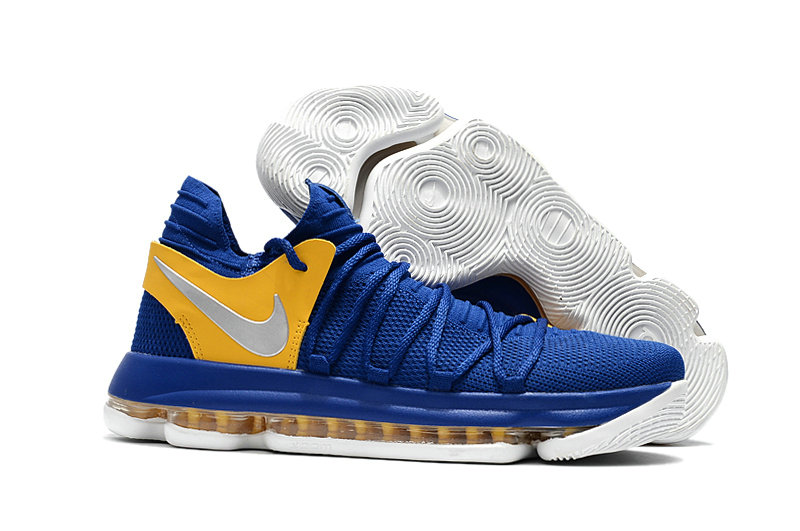 Cheap Wholesale Nike Kevin Durant 10 X Sneakers Yellow Silver Royalblue White