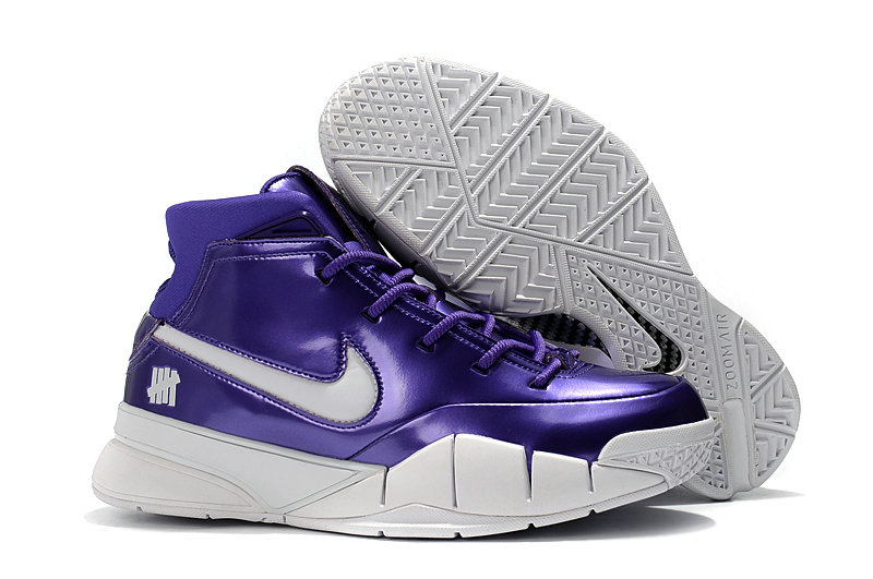 Wholesale Cheap Nike Kobe 1 Protro Basketball Shoes White Purple