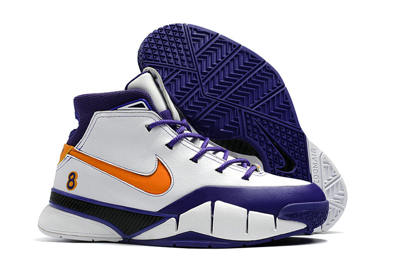 Cheap Wholesale Nike Kobe 1 Protro Mens Orange White Purple