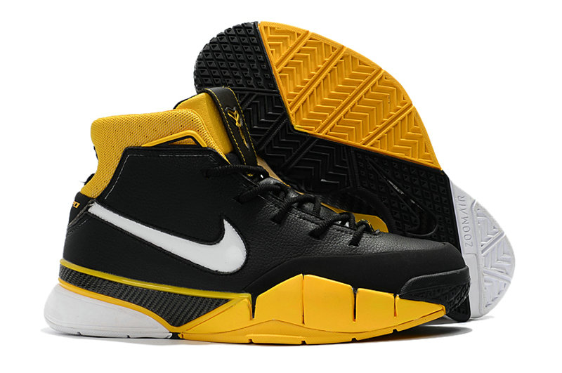 Cheap Wholesale Nike Kobe 1 Protro Yellow Black White