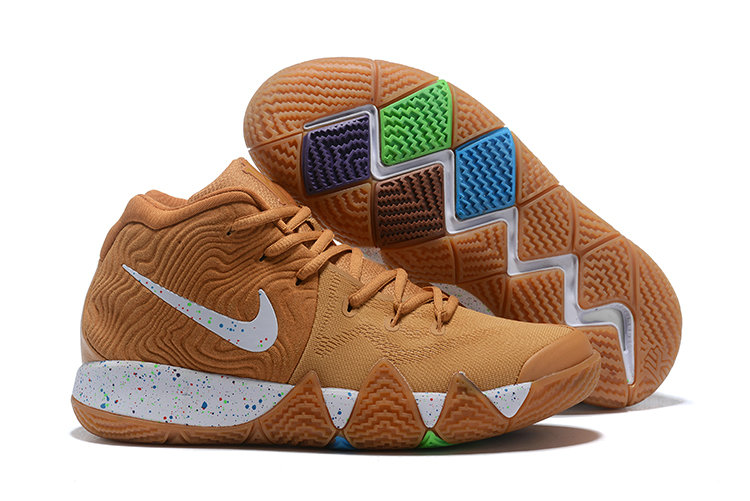 Wholesale Cheap Nike Kyrie 4 Cinnamon Toast Crunch Metallic Gold Coin White BV0426-900