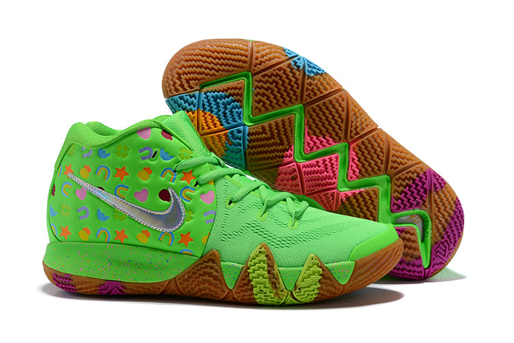 Wholesale Cheap Nike Kyrie 4 Green Lucky Charms For Sale