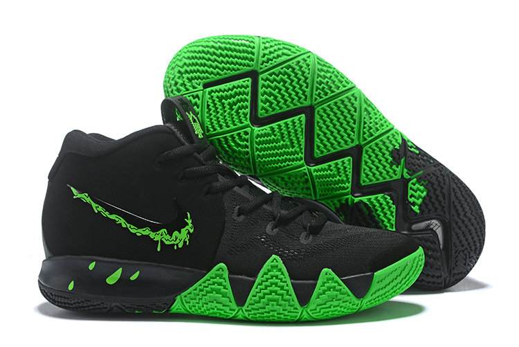 Wholesale Cheap Nike Kyrie 4 Halloween Black Rage Green