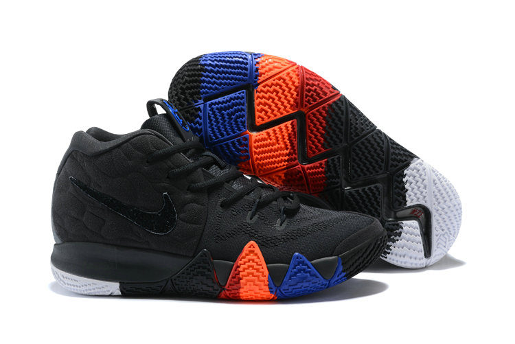 hot sale online e80ae 2b1d4 Wholesale Cheap Nike Kyrie 4 Irving Basketball Shoes Black Orange Blue