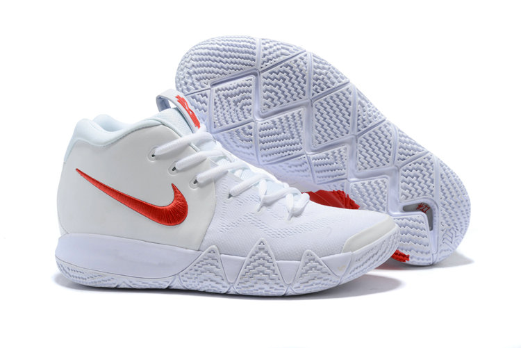 Wholesale Cheap Nike Kyrie 4 Irving Basketball Shoes Fire Red White