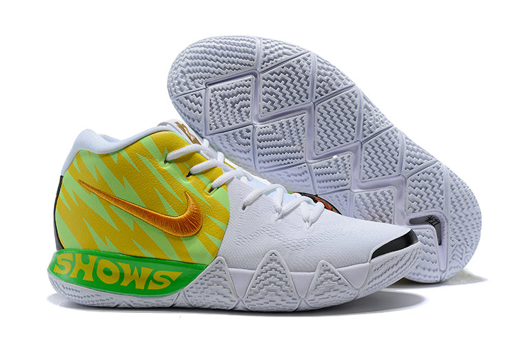 Wholesale Cheap Nike Kyrie 4 Irving Basketball Shoes Gold Green White