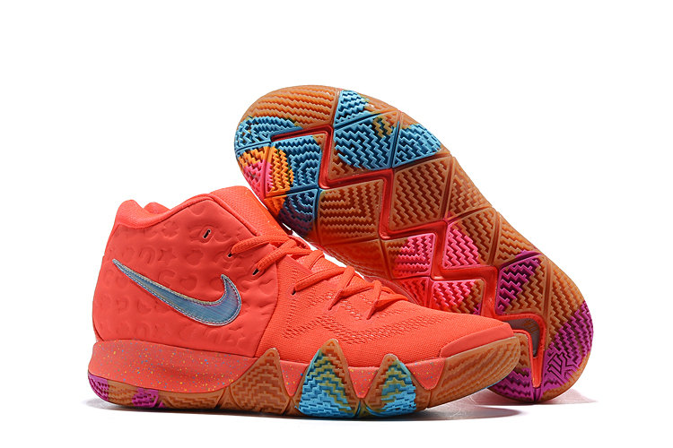 Wholesale Cheap Nike Kyrie 4 Irving Basketball Shoes Red Blue Purple