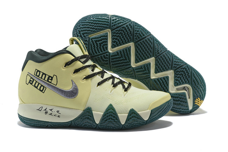 Wholesale Cheap Nike Kyrie 4 Irving Basketball Shoes Rice Yellow Black Silver Grey