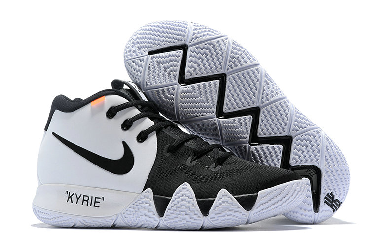 Wholesale Cheap Nike Kyrie 4 Irving Basketball Shoes White Black