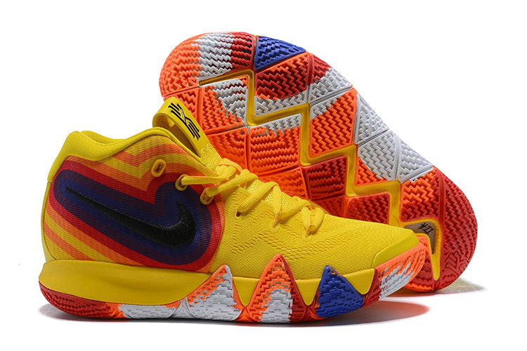 bb34959d8558 Wholesale Cheap Nike Kyrie 4 Irving Basketball Shoes Yellow White Black  Orange Red Blue