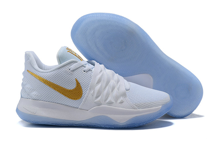 Wholesale Cheap Nike Kyrie 4 Low White Metallic Gold