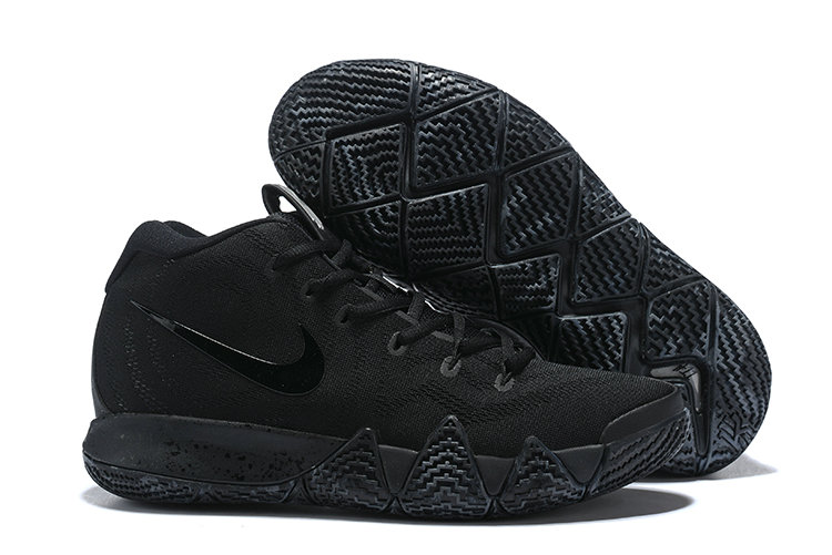 Wholesale Cheap Nike Kyrie 4 Total Black Blanc Triple Black