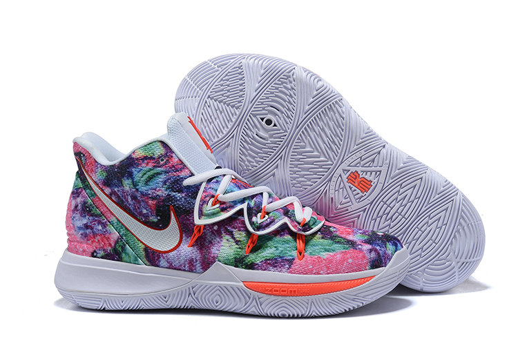 Wholesale Cheap Nike Kyrie 5 Colorful White Orange Red