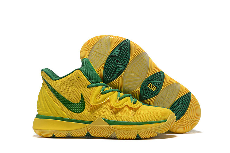 Wholesale Cheap Nike Kyrie 5 Irvings Grass Green Yellow
