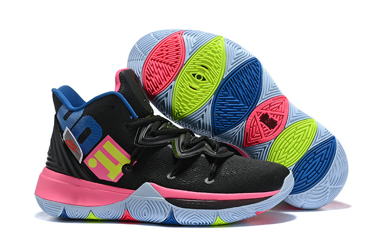 Wholesale Cheap Nike Kyrie 5 Irvings Just DO It Pink Black White Blue