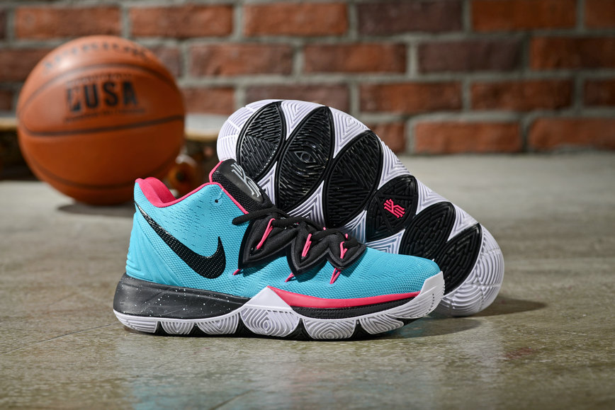 Wholesale Cheap Nike Kyrie 5 Irvings Pink Green Black White