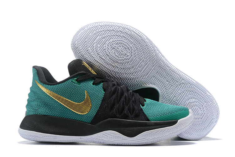 Wholesale Cheap Nike Kyrie Flytrap Irvings Basketball Shoes Gold Green Black White