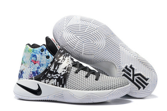Cheap Wholesale Nike Kyrie Irving 2 (II) Black Grey White Blue