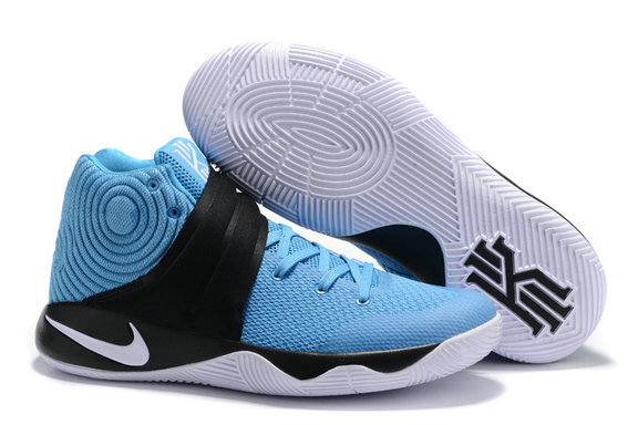 Cheap Wholesale Nike Kyrie Irving 2 (II) Black Light Blue White