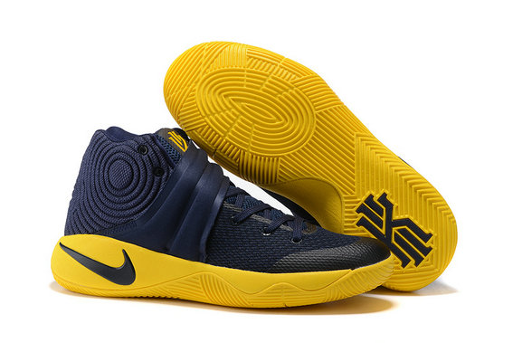 Cheap Wholesale Nike Kyrie Irving 2 (II) Navy Blue Yellow