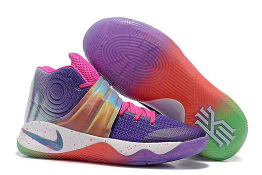 Cheap Wholesale Nike Kyrie Irving 2 (II) Purple Pink Gold White