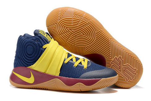 Cheap Wholesale Nike Kyrie Irving 2 (II) Yellow Navy Blue Brown